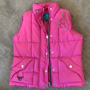 Rhinestone pink horse vest by cowgirl hardware